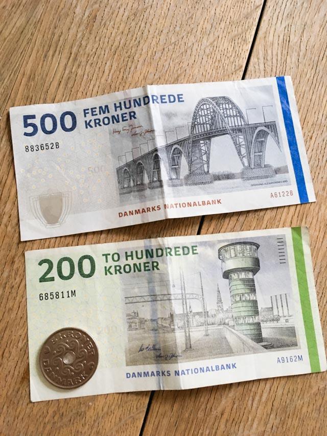 Les couronnes danoises: les billets ! Voyage au Danemark sur le blog Birds & Bicycles