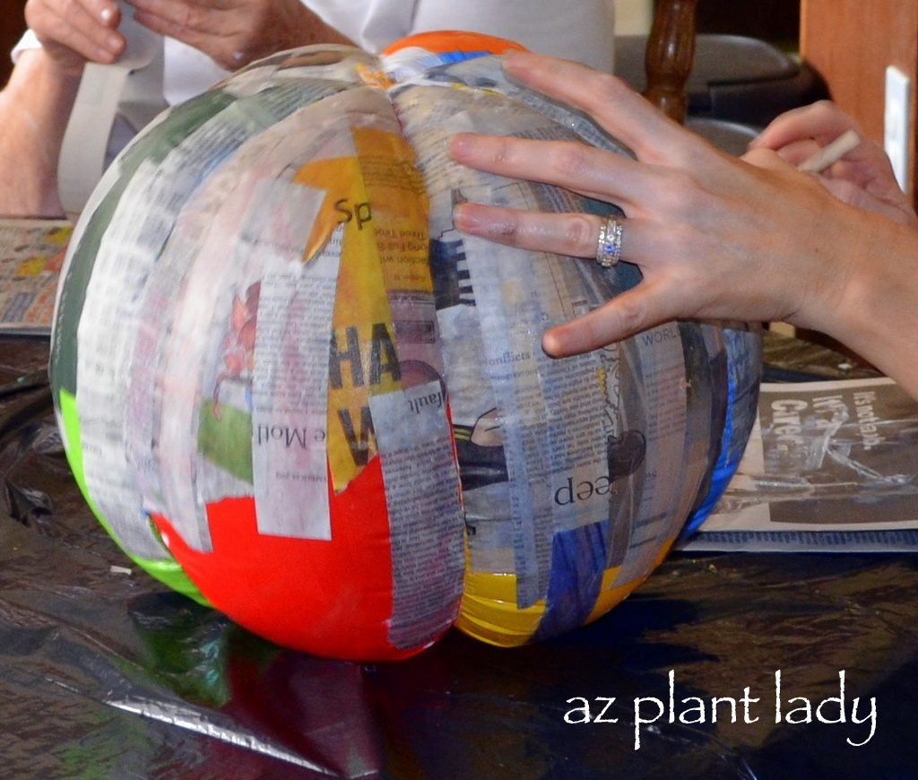Create Your Own Pumpkins Using Paper Mache