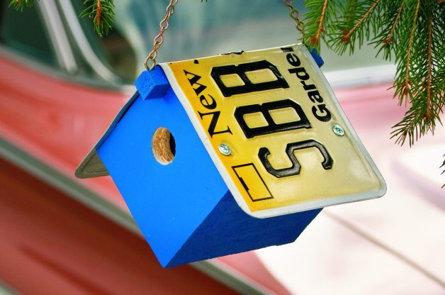 bird house plans license plate roof