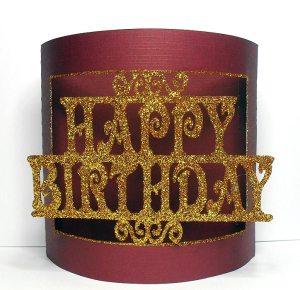 happy birthday bendy card