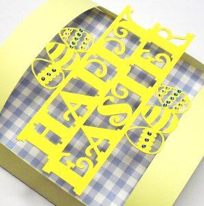 happy easter bendy card 2