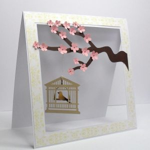 cherry blossom cage card