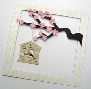 cherry blossom cage card 2
