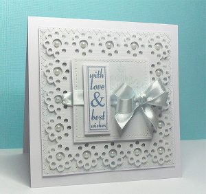 floral doily square card
