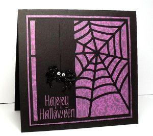 spider web background card