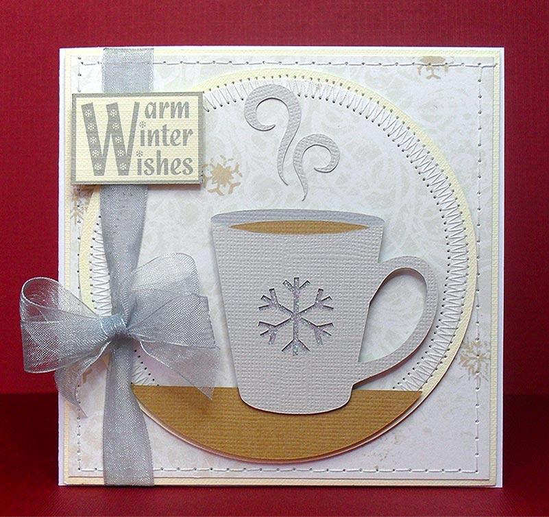 Warm Winter Wishes Cut File Digi Stamp Sentiments