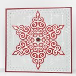 swirly snowflake card