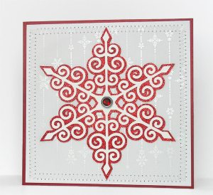 swirly snowflake card