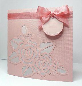 Rose Stencil Card