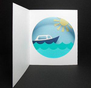 Boat Diorama Card 1