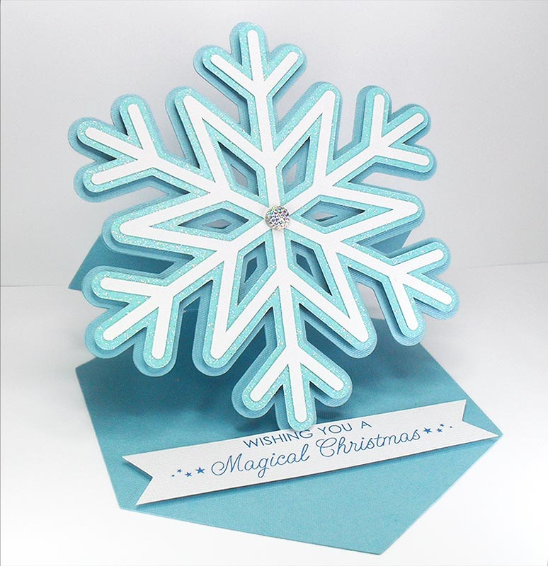 Download Snowflake Easel Card - Free Cut File