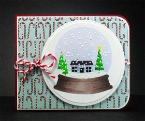 snow globe scene card