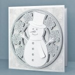 Snowman Snowflake Circle Card
