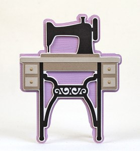 The Sewing Machine Stand Card