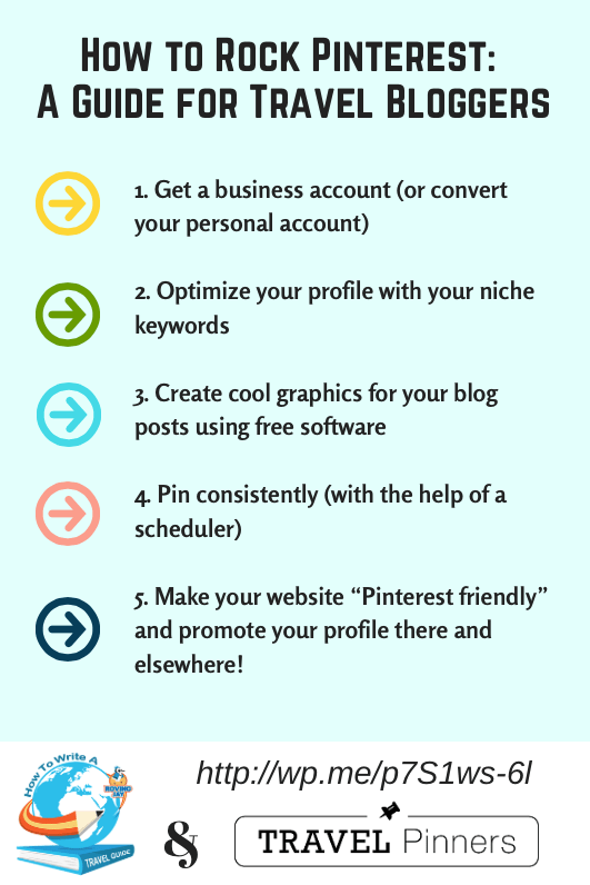 How to Rock Pinterest - A Guide for Travel Bloggers. Here's 5 tips to help you raise your profile and build your brand. Brought to you by Jay Artale from Birds of a Feather Press, and Louise Cottrell from Travel Pinners.