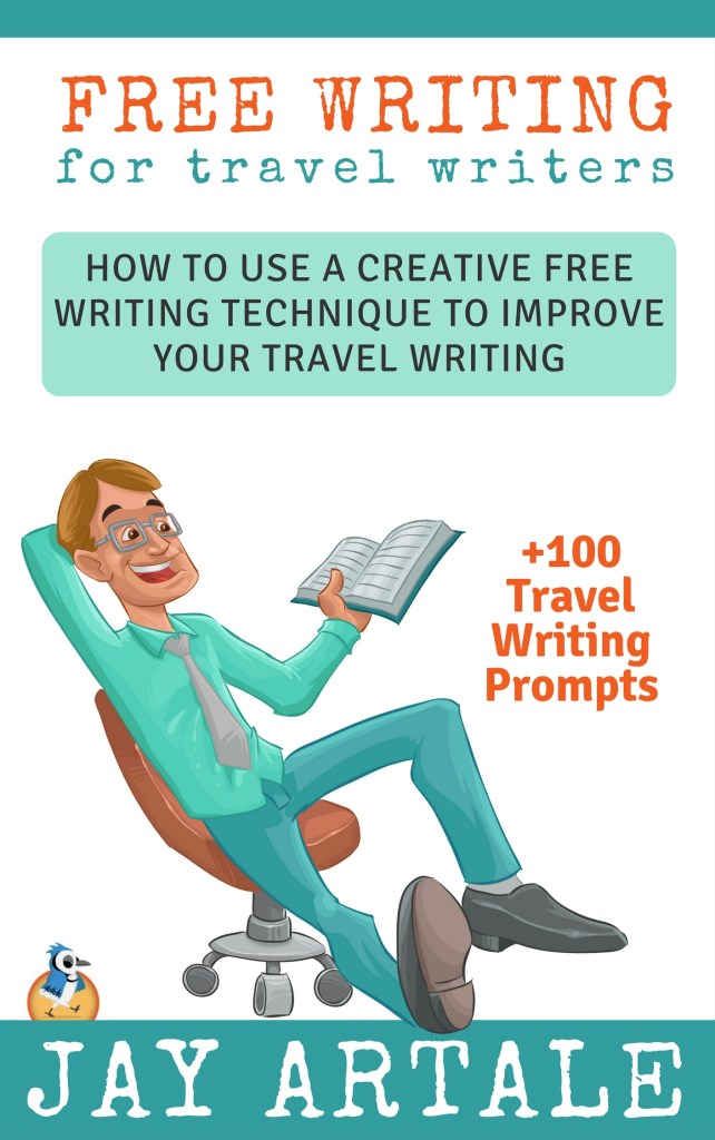 Free Writing for Travel Writers Book Cover mock up