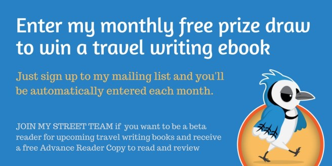 Free Prize Draw for travel writing ebook