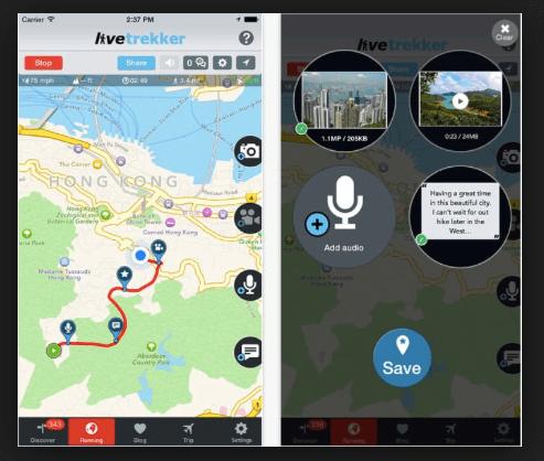 LiveTrekker Travel App