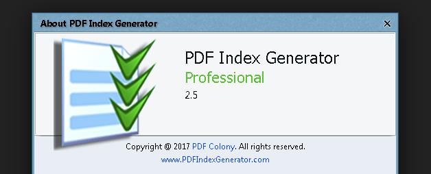 Resultado de imagen para PDF Index Generator Professional 2