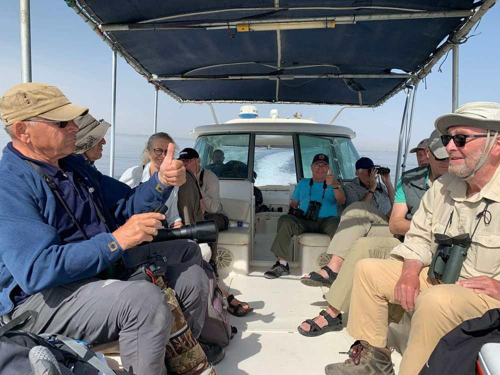 Birders on the boat on their way to Kubbar Island