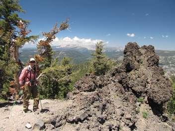 Lynn with lava rock