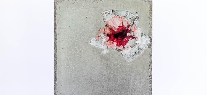 Stille - concrete, paper, ink by Birgit Moffatt