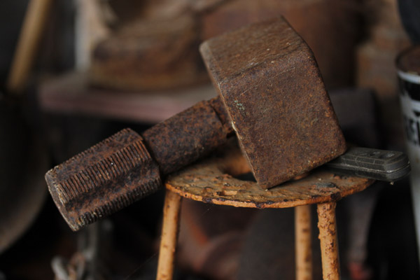 rusted objects