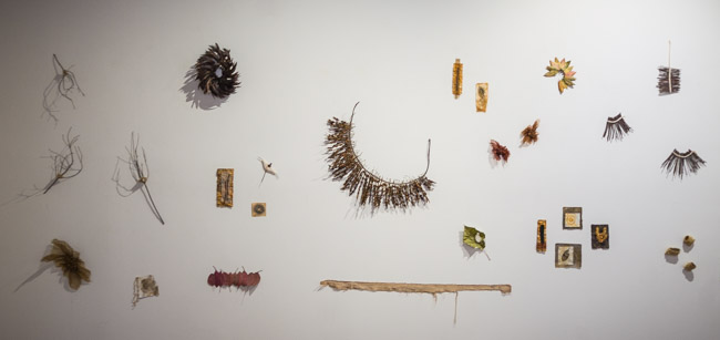papakainga wall installation by Birgit Moffatt
