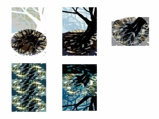 Boomspiegel - series digitale tekeningen - serie 3