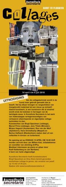 Het affiche van de tentoonstelling Collages