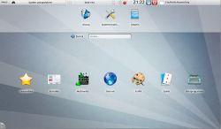 Bild: Nach dem Neustart sieht der KDE PLASMA Desktop so aufgeräumt aus.