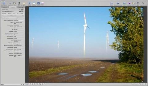 Bild: Die Bildbearbeitungssoftware Aperture auf einem iMac.