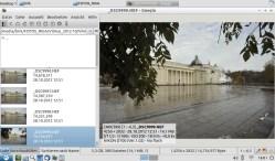 Bild: Der RAW Konverter und Bildbetrachter Geeqie unter Lubuntu Linux 12.10 auf dem Acer Aspire.