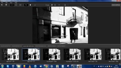 Bild: DxO FilmPack 3 Professional unter Windows 7 Professional 64 Bit auf dem Acer Aspire One 756. Klicken Sie auf das Bild um es zu vergrößern.