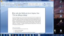 Bild: Funktioniert auf dem Acer Aspire One 756 unter Windows 7 Professional 64 Bit ausgezeichnet – Microsoft Office. Klicken Sie auf das Bild um es zu vergrößern.
