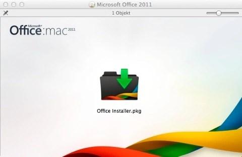 Bild: Legen Sie Microsoft Office DVD für Mac ein oder klicken Sie auf den Download. Die Installation startet nach einem Augenblick.