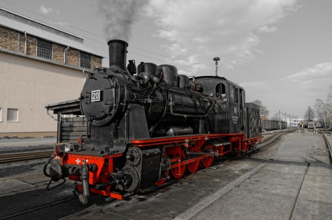 Bild: Mächtig unter Dampf - Dampflok an der MaLoWa in Klostermansfeld. ISO 200 ¦ f/7,1 ¦ 24 mm ¦ 1/640 s ¦ kein Blitz. Klicken Sie auf das Bild um es zu vergrößern.