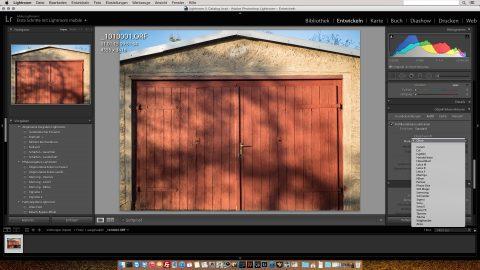 Bild: Adobe Lightroom unterstützt zwar das LEICA DG SUMMILUX 25 mm / F1.4 nicht, korrigiert aber dennoch die tonnenförmige Verzeichnung, die das Objektiv produziert, automatisch.