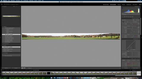 Bild: Nach ein wenig Feintuning sieht das Panoramafoto so aus.
