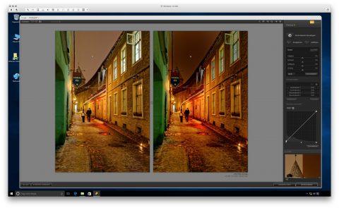 Bild: Google Nik Collection - Viveza 2 unter Windows 10. Links das Originalfoto im Format JPEG. Rechts das nachbearbeitete Foto im Format JPEG.