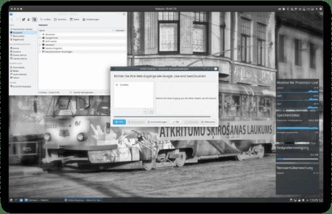 """Bild: Google Drive kann unter Kubuntu 18.04 in den Netzwerkordner des Dateimanagers Dolphin eingebunden werden. Auf dem Desktop einfach auf einen der Ordner gehen, Network und dann Google Drive öffnen. Links im Fenster """"+ Erstellen anklicken""""."""