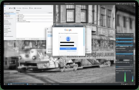 """Bild: Jetzt muss noch das Passwort für die Dienste von Google eingegeben werden. Dann auf """"Anmelden"""" Klicken."""