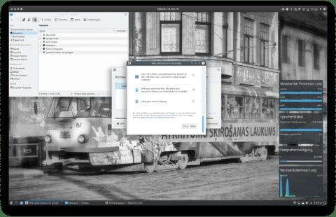 """Bild: Wenn man durch das Infofenster geschellt hat, kann man auf """"Allow"""" drücken. Dann werden die Google Dienste verbunden."""