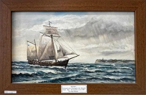 Bild: Exponat im Heimat- und Marinemuseum in in Dranske auf der Insel Rügen. Klicken Sie auf da Bild um es zu vergrößern.