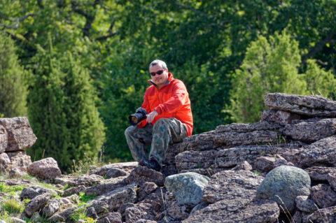 Bild: Unterwegs in Südschweden in der Ruine Himmelstorp. Klicken Sie auf das Bild um es zu vergrößern.