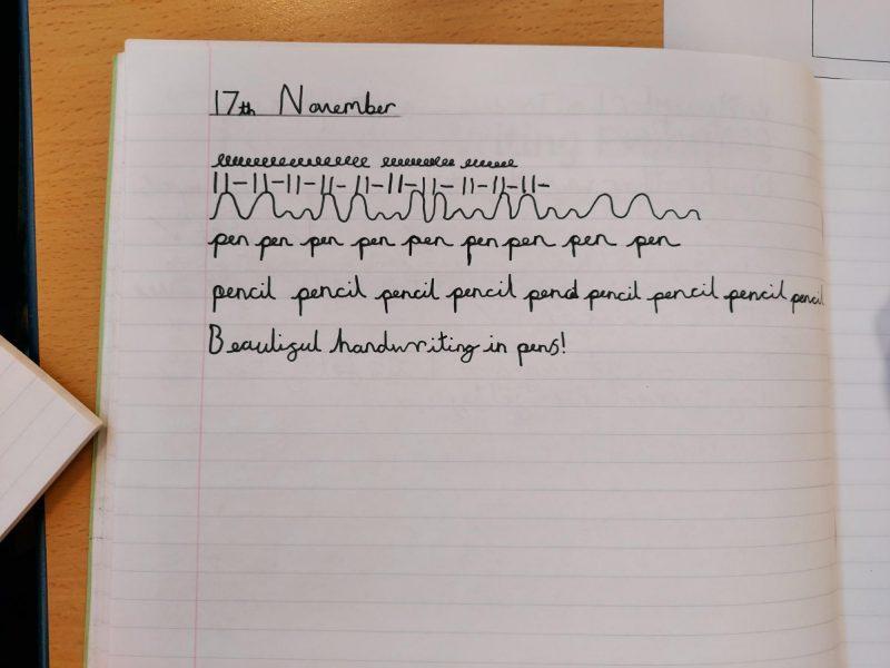 Day 1 – Handwriting Pens!