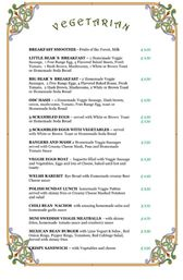 Old Dresser Cafe Full English Vegetarian Breakfast Menu - Bearwood
