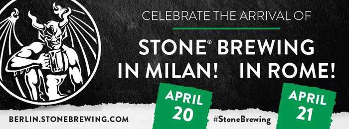 stone brewing a roma e milano per presentare la sede di berlino