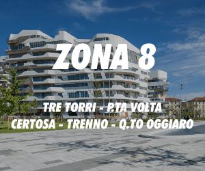 Zona 8 Tre Torri Porta Volta Certosa Trenno Quarto Oggiaro