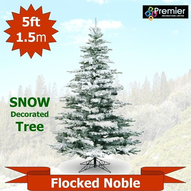 Flocked Noble Snow Covered 5ft Artificial Christmas Tree